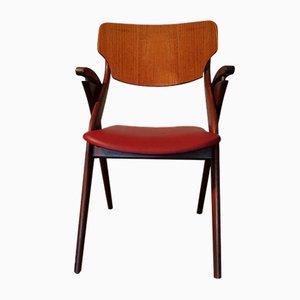 Scissor Chair by Arne Hovmand Olsen for Mogens Kold, 1950s