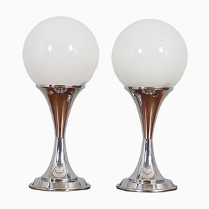 Chrome Table Lamps by Goffredo Reggiani, Italy, 1960s, Set of 2