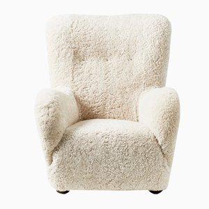 Large Danish Lounge Chair, 1940s