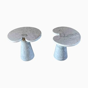 Tavolini da caffè Eros in marmo di Angelo Mangiarotti per Skipper, 1972, set di 2