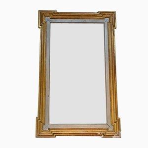 Espejo antiguo con madera dorada, 1900