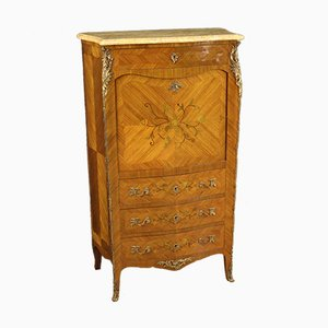 French Inlaid Secretaire with Marble Top