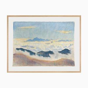 Hans Brasch, Grande Aquarelle Expressive, 1927, Elève de la Maîtrise de Hans Thoma et Elève de Ferdinand Hodler