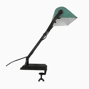 Desk Lamp or Clamp Lamp with Enamelled Shade
