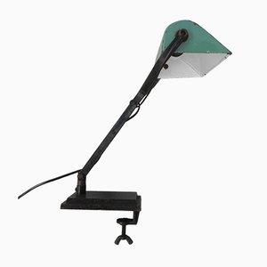 Schreibtischlampe oder Klemmlampe mit Emailliertem Schirm