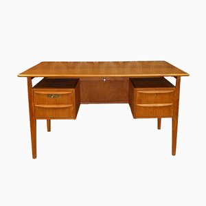 Teak Free Standing Desk from Tibergaard, 1960s