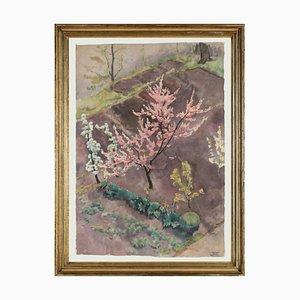 Hans Brasch, Large Expressive Watercolour, 1920, Meister von Hans Thoma und Schüler von Ferdinand Hodler