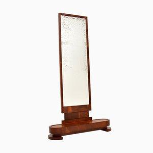 Art Deco Spiegel mit Rahmen aus satinierter Birke
