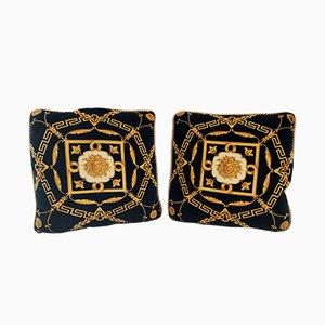 Cojines negros de Gianni Versace, Italy, años 80 o 90. Juego de 2