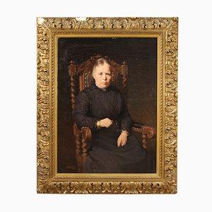 Belgisches Porträt, Öl auf Leinwand, 1920