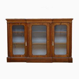 Viktorianisches Breakfront Bücherregal aus Palisander