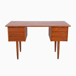 Mid-Century Freestanding Teak Desk, 1960s