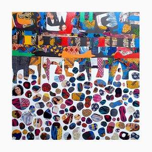 Beauty in Diversity II, lienzo de técnica mixta de Eghosa Raymond Akenbor, 2020