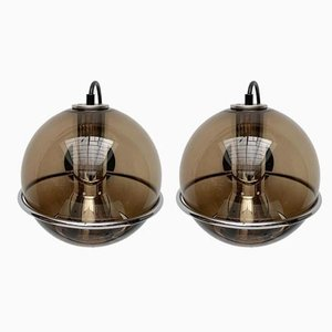 Mid-Century Dutch Space Age Wall Lamps by Frank Ligtelijn for Raak, Set of 2
