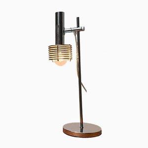 Space Age Chrome Slat Table Lamp