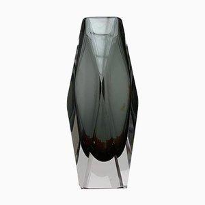 Vintage Prismatic Glass Vase