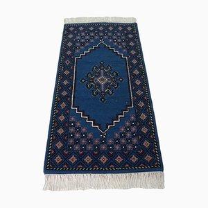 Vintage Tunisian Handknotted Wool Area Rug