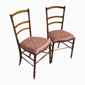 Antike Esszimmerstühle aus Kirschholz, 2er Set