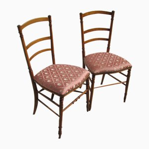 Antique Cherry Dining Chairs, Set of 2