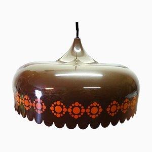 Danish Enamel and Steel Pendant Lamp by Kaj Franck for Fog & Mørup, 1960s