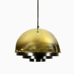 Golden Line Gold Milieu Pendant Lamp by Jo Hammerborg for Fog & Mørup, 1970s