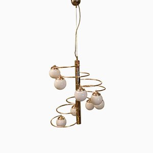 Brass Chandelier by Pia Guiidetti Crippa, Italy, 1970s