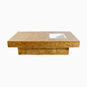 Coffee Table in Burl Wood by Willy Rizzo