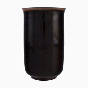 Vase in Glazed Stoneware by Hans Henrik Hansen for Royal Copenhagen, 1930s