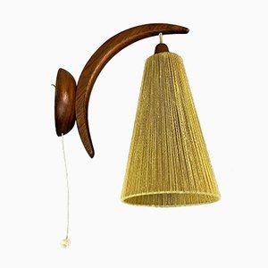 Lámpara de pared de teca, años 60
