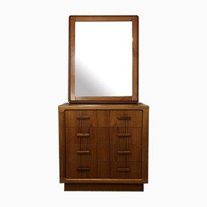 Teak Sideboard & Mirror, 1970s