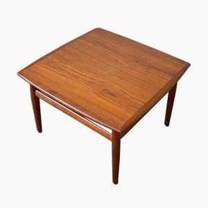 Mesa de centro de teca de Grete Jalk para Glostrup, años 60