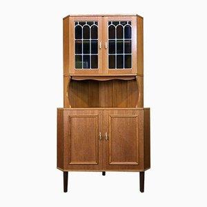 Teak Vitrine Corner Cabinet, 1960s