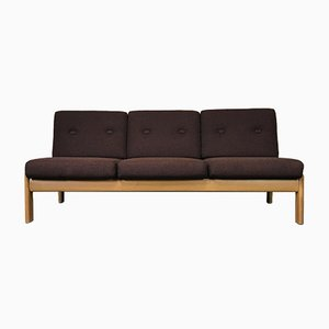 Sofá cama danés de roble, años 60