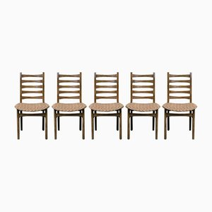 Dining Chairs, 1960s, Set of 5
