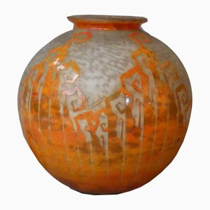 Large French Glass Vase by Charder