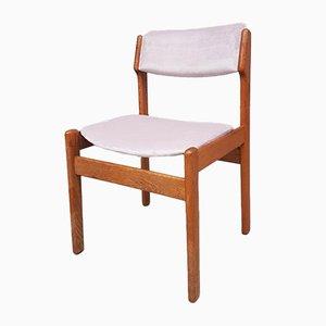 Mid-Century Norwegian Velvet Oak Dining Chair