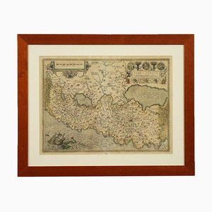 Abraham Ortelius, Aguafuerte regado a mano