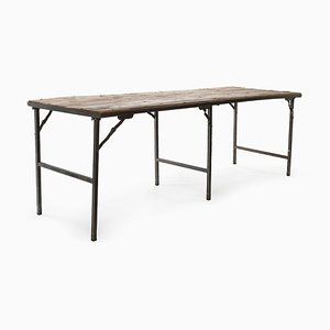 Folding Table in Wood and Metal