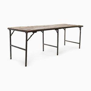 Tavolo pieghevole in legno e metallo