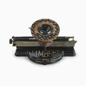 Lambert Typewriter Machine, 1884
