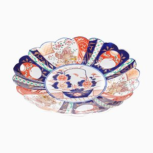 Antiker japanischer Imari Teller aus Porzellan