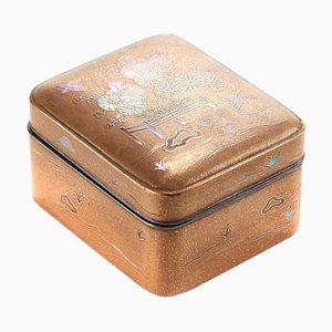 Antique Inlaid Lacquered Oriental Box