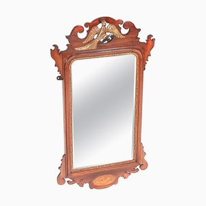 Antique Edwardian Inlaid Mahogany Wall Mirror
