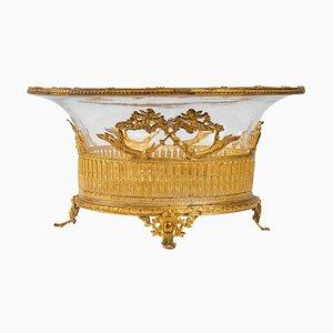 Tazza in cristallo e bronzo, XIX secolo