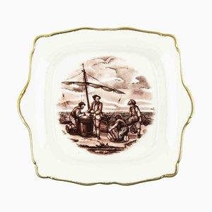Limoges Porcelain Vintage Centerpiece, France, Mid-20th Century
