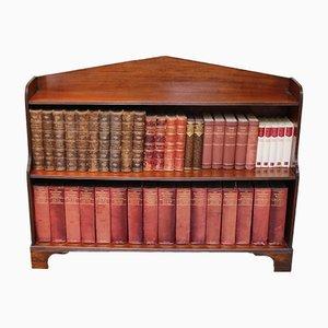 Edwardianisches Offenes Mahagoni Bücherregal