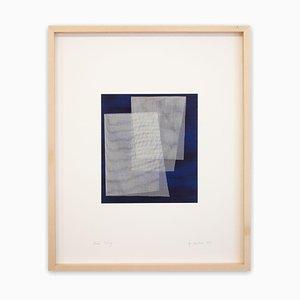 Moiré Indigo, Abstraktes Gemälde. 2019