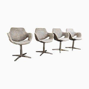 Vintage Boris Tabacoff Style Dining Chairs, 1960s, Set of 4