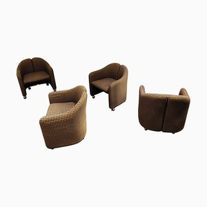 PS142 Easy Chairs by Eugenio Gerlio for Tecno, 1960s, Set of 4