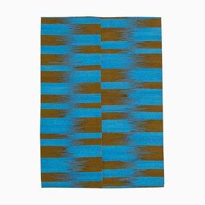 Blauer Kelim Teppich